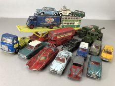 Collection of Die Cast Dinky vehicles to include buses, emergency vehicles, army vehicles, cars etc