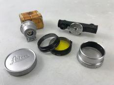 Rare Leitz Westlar accessories to include vintage Leitz Westlar black rangefinder in metres, vintage