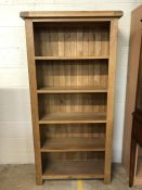 Large contemporary bookcase, approx 90cm x 30cm x 180cm tall