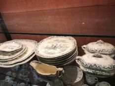 Collection of Edge Malkin and Company ceramics in the 'Lintin' design to include plates, platters,