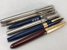 Collection of pens and an Eversharp pencil & Parker