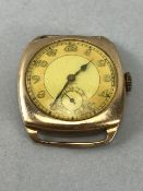 9ct Gold Vintage watch by ZENITH, winds and runs (total weight 22.1g