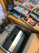 Vintage Computer: Atari 7800 in original box with a selection of 19 Games Cartridges some unopened