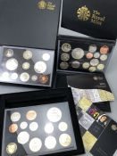 Three sets of Royal Mint United Kingdom Proof Collection leather bound Coin sets 2008, 2010, 2011
