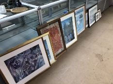 Large collection of nicely framed prints, some limited edition