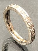 18ct White Gold Full eternity ring set with Diamonds size 'N'