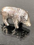 Solid silver truffling pig
