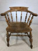 Antique pine elbow chair A/F