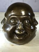 Four faced buddha head, approx 12cm in height