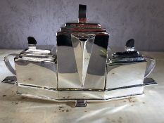 Dresser style tea set and tray, approx 22cm in height