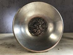 White metal small Chinese bowl, approx 14cm in diameter