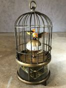 Bird cage clock, approx 19cm in height