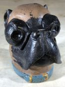 Heavy bulldog inkwell, approx 9.5cm in height