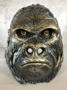 Large figure of a Gorilla's head, approx 33cm in height