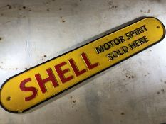 Vintage style cast iron Shell advertising sign, approx 50cm in length