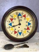 RAF style wall clock, approx 33cm in diameter