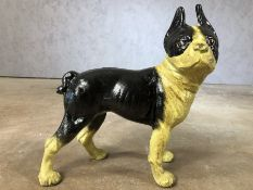 Iron figure of a Boston Terrier, approx 25cm in height