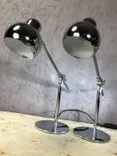 Pair of small chrome anglepoise lamps