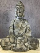 Seated garden buddha, approx 53cm in height