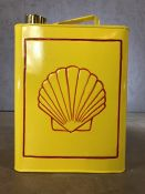 Vintage style petrol can with Shell emblem, approx 34cm in height