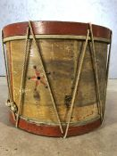 Vintage style drum, approx 35cm in diameter (A/F)