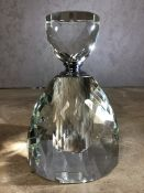 Large bulbous glass scent bottle, approx 22cm in height