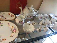 ROYAL CROWN DERBY - Part tea service in floral design many pieces marked 'Derby Posies', approx 36