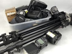 Camera Equipments to include Nikon Lenses, filters, Manfrotto tripod etc