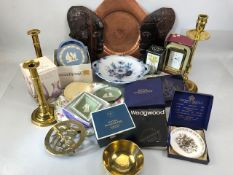 Collection of china and decorative homewares to include Wedgewood Jasperware, Crown Ducal, Royal