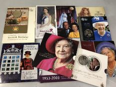 Collection of Royal Mint collectable commerative coins of varius years eleven in total