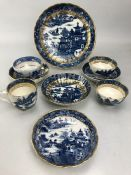 Collection of CAUGHLEY Temple pattern ceramics late 19th century