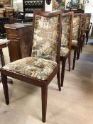 Set of six Mid Century G-Plan Fresco dining chairs, to include two carvers