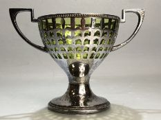 WMF table centre with original green glass bowl