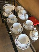 Royal Doulton part tea service in the CANTERBURY design, approx 20 pieces