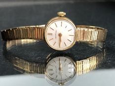 9ct Gold watch and strap by CERTINA watch case and strap marked 375