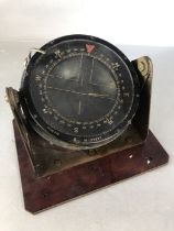 WW II Air Ministry Type P10 compass No. 18789T on a custom mount