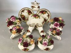 Collection of Royal Albert 'Old Country Roses' decorative china, approx 11 pieces