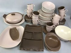 Collection of Poole Dinnerware to include Serving dishes, plates etc