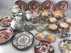 Collection of Chinese / /Japanese / Eastern ceramics to include tea pots, cups and saucers, plates
