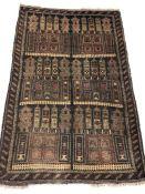 Old Baluchi rug, approx 138cm x 90cm