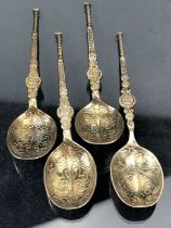Four similar styled hallmarked Silver spoons