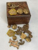 Collection of Military cap badges and insignia etc