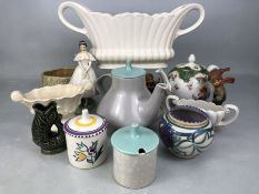 Colletion of China and figurines to include Poole, Wade, Hummel etc