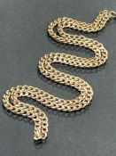 9ct 375 Gold Hallmarked curb link necklace approx 49cm long and 5.7g