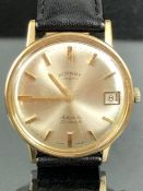 9ct Gold Rotary automatic gents watch, swiss made 25 jewels