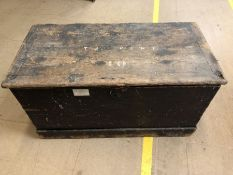 Antique pine, possibly military, chest with internal compartments