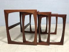 Mid century nest of three tables