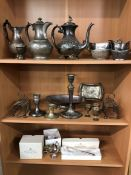 Collection of silver plated items to include two boxed items by Mappin & Webb