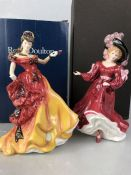 Two Royal Doulton figurines, 'Belle' HN3703 and 'Patricia' HN3365, both boxed and with certificates
