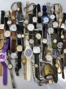Large collection of watches and a Kaiser desk watch/clock